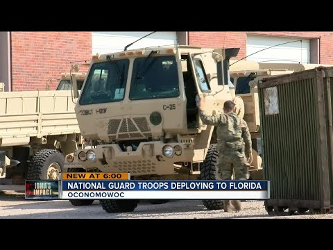 Wisconsin National Guard troops deploy for Irma relief