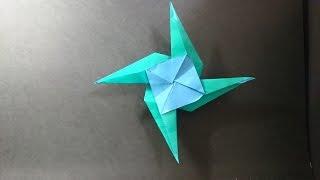 摺紙 風車飛鏢 Origami Windmill Ninja Star