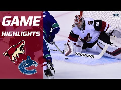 HIGHLIGHTS: Arizona Coyotes 4, Vancouver Canucks 3 (OT)