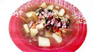 Суп из чечевицы с копченостями! Вкусно и полезно!