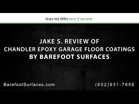 Jake S. Review of Chandler Epoxy Garage Floor Coating by Barefoot Surfaces