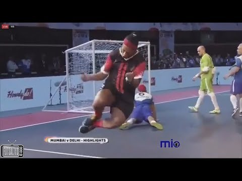 Gols Delhi Dragons (Ronaldinho) 4 x 3 Mumbai Warriors (Giggs) - Premier Futsal India 2017