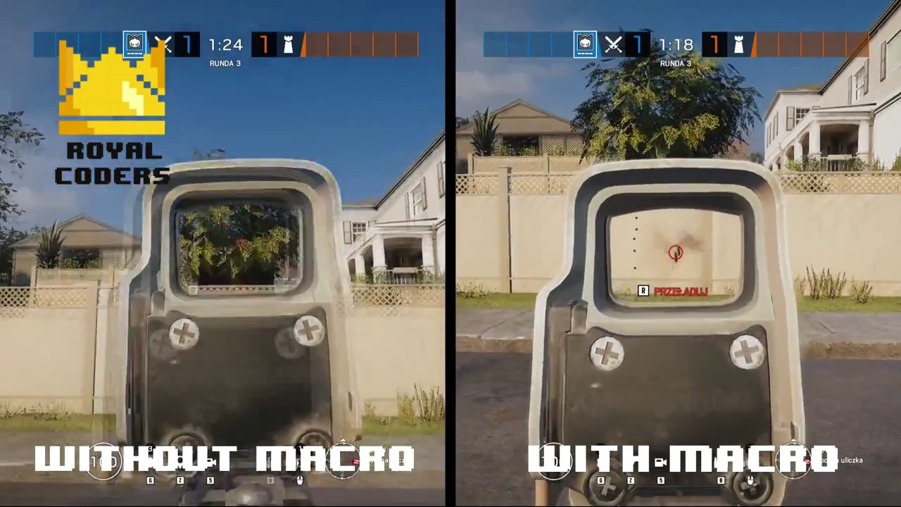 New Rainbow Six Siege Macro No Recoil Script - Updated For 2019 (With  Shield)