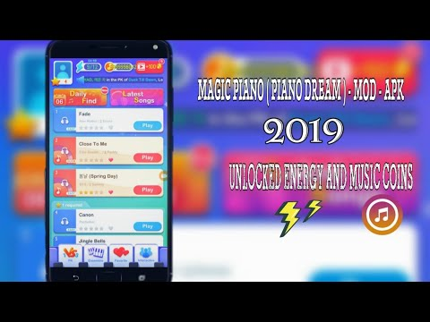 MAGIC PIANO TILES ( PIANO DREAM ) MOD APK ALL SONG UNLOCKED AND LONG  GAMEPLAY