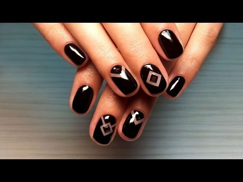 Дизайн ногтей гель-лак shellac - Дизайн ногтей стразами + ...