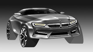 Car Photoshop rendering(BMW SUV)