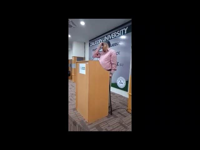 ڈاکٹر عاصم حسین کا سردار یاسین ملک کی افتتاحی تقریب کے موقع پر طلبہ سے خطاب