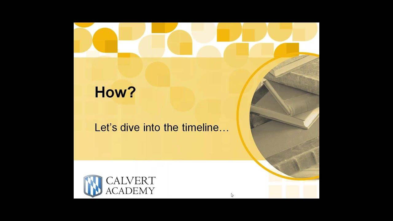 CWRA & Calvert Academy High School Grade 10