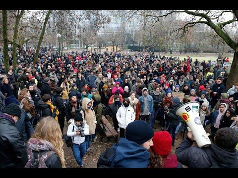 مظاهرات في بروكسل ضد ميثاق الهجرة  - نشر قبل 2 ساعة