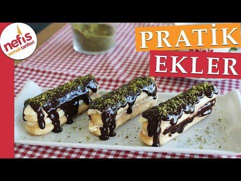 Pratik Ekler Pasta Tarifi - Nefis Yemek Tarifleri