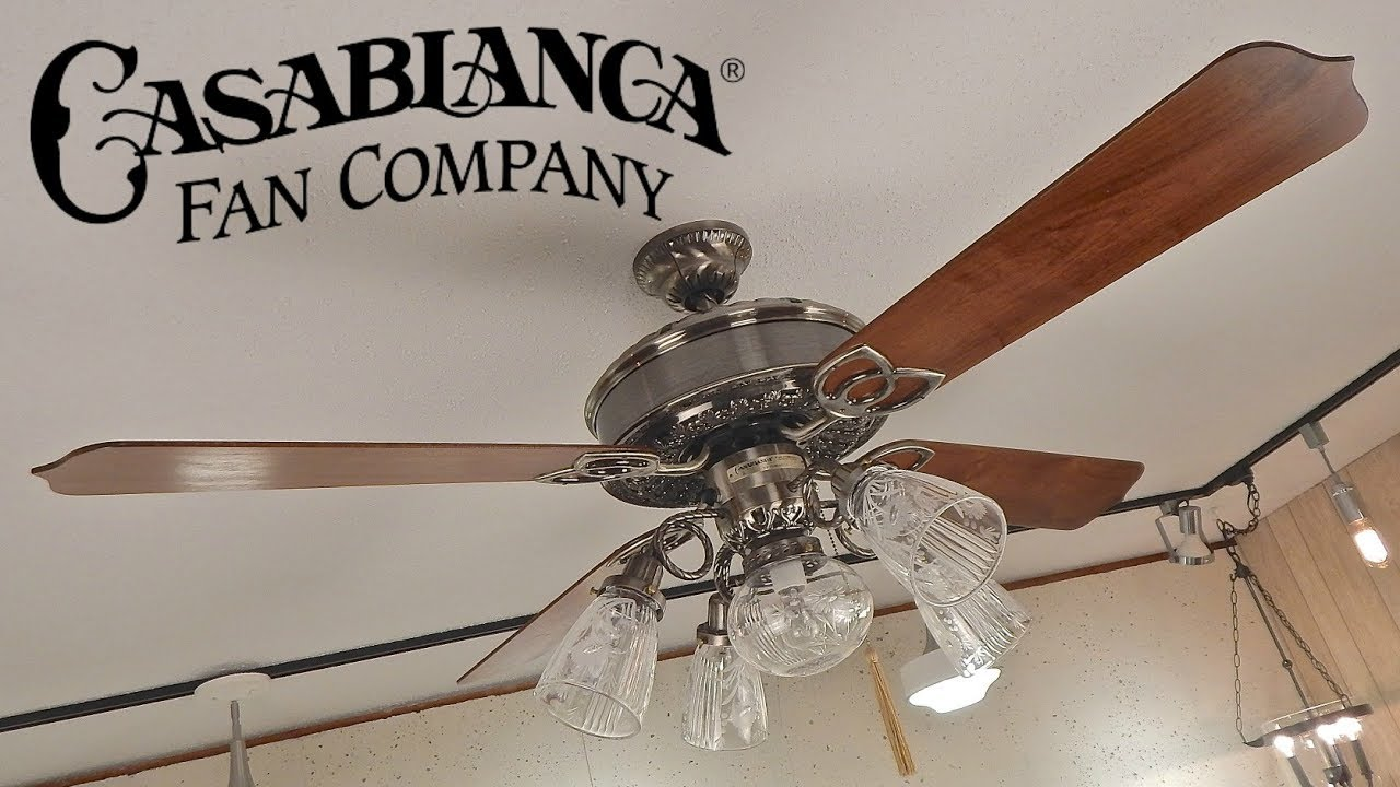 Casablanca Victorian Ceiling Fan 1080p Hd Remake Youtube