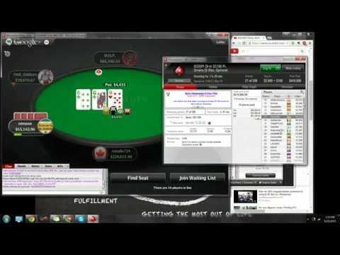 200/400 Deep Ante PLO  Rail on Pokerstars Liiiivestream!