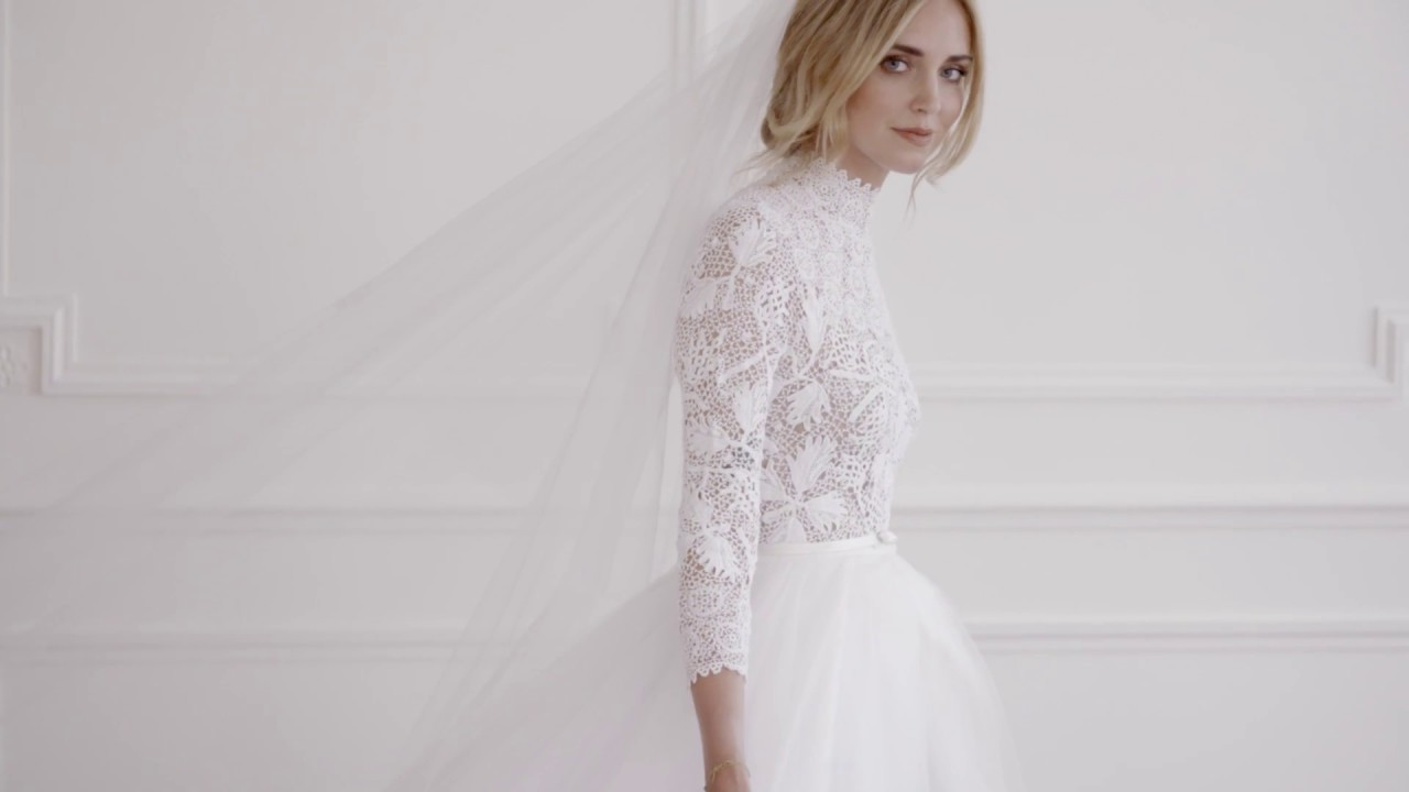 Behind The Making Of Chiara Ferragnis Dior Wedding Dress Youtube