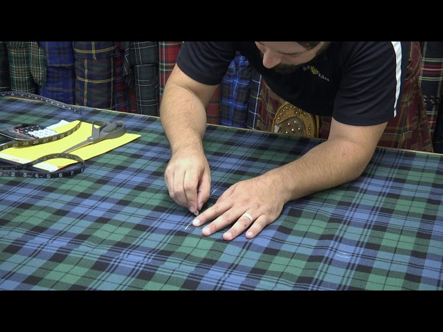 How do you make a kilt? Here's our 30-second quick view of the process.
