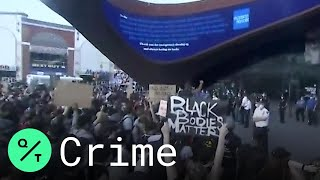 New York Protesters Rally at Barclays Center Against George Floyd Death