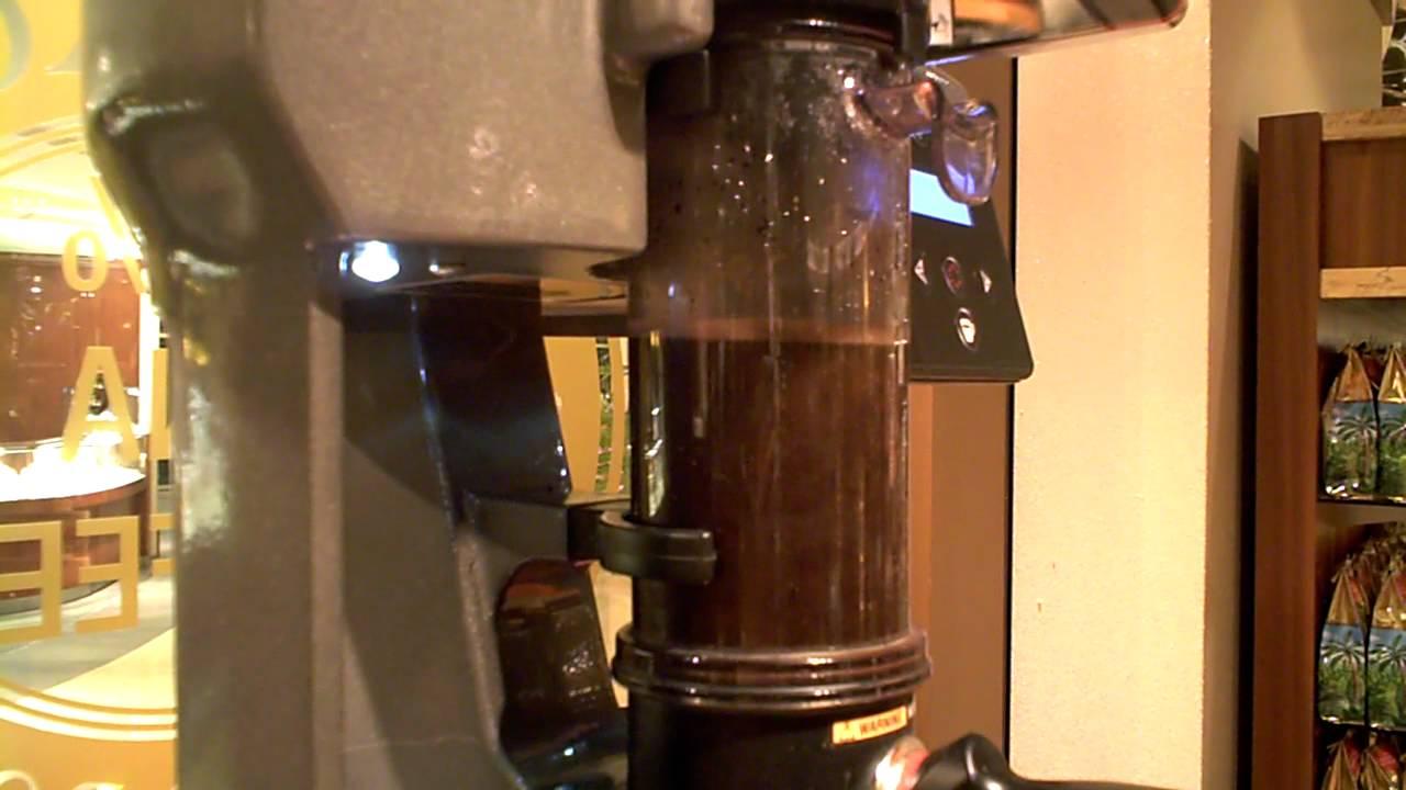 French Press Coffee Maker Demo : Royal Kona Coffee special brewing machine - YouTube