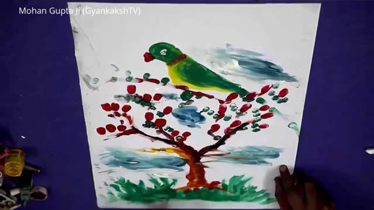 Easy Paintings Simple And Easy Paintings With Thumb Impressions By Mohan Gupta Ji