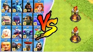 Single Target Inferno + Multi Target Inferno VS. All Troops|Clash Of Clans|GAMING WITH NAKUL