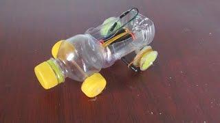 Comment faire une voiture en utilisant une bouteille en plastique - Voiture-jouet