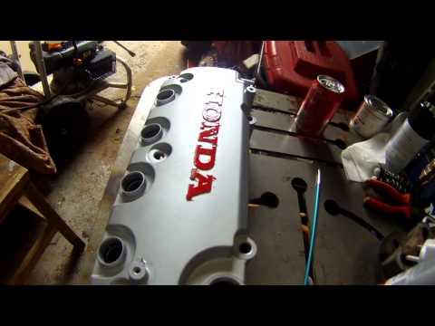 Honda civic engine detailing