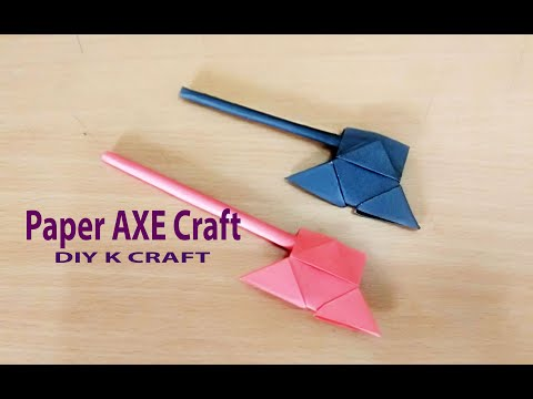 Paper Hand AXE Craft | DIY K Craft