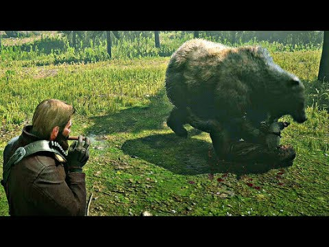 Red Dead Redemption 2 - Man Killed By Bear & Killing Bear With Fists