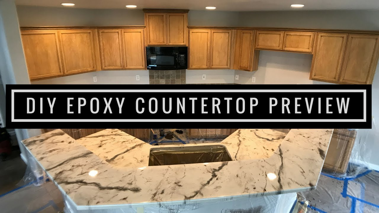 Leggari Products DIY Epoxy Countertop Kit Installed