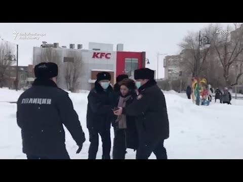 Kazakh Opposition Protesters Detained