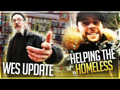 Helping The Homeless ❤️ New Year - Wesley Update!!!