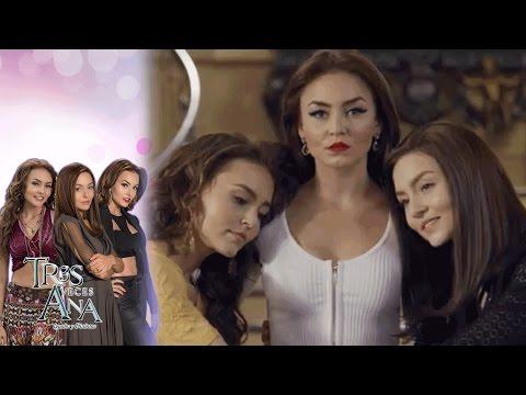Ana Leticia finge alegría al ver a Ana Laura y Ana Lucía | Tres veces Ana - Televisa