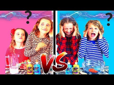 TWIN TELEPATHY SLIME CHALLENGE!!! SIS VS BRO Style Ft The Norris Nuts