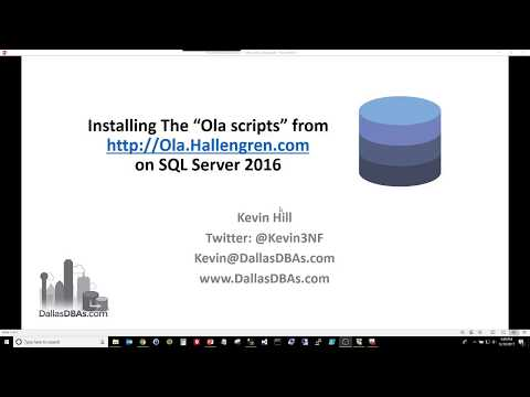 "Installing the ""Ola Scripts"" for SQL Server"