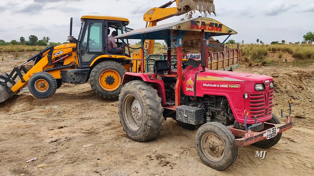Mahindra 595 di power plus tractor with fully loaded trolley | John Deere tractor power | CFV