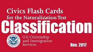 2018! All 100 Classified Citizenship Questions!