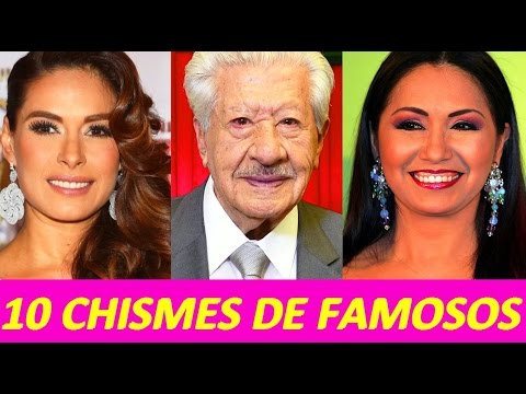 10 chismes de famosos notas breves youtube for Chismes y espectaculos recientes
