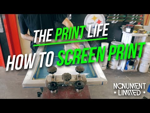 How To Screen Print Smooth Plastisol Ink Tutorial | client screen print job feature