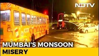 """ It& 39 s Nature& 39 s Fury "" Suburban Trains Stopped In Rain Hit Mumbai"