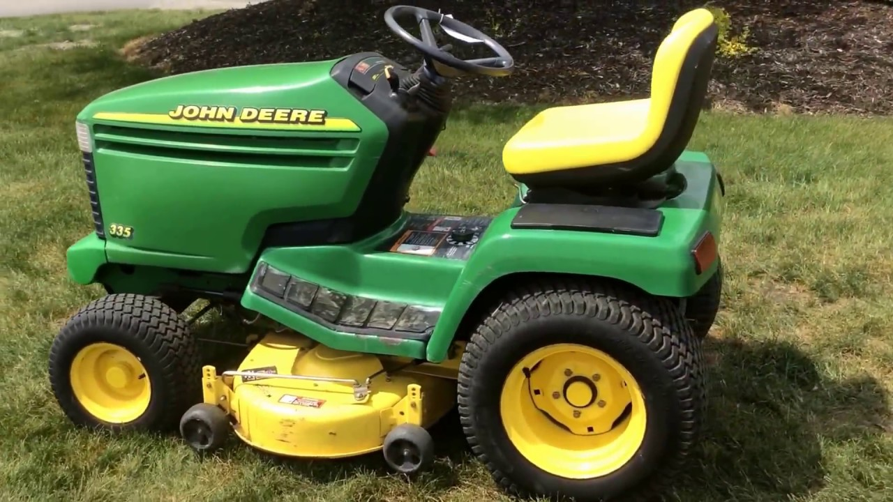 John Deere 335 Garden Tractor Gardening Flower And Vegetables Gx335 Wiring Diagram Riding Mower For Sale Online Auction Youtube