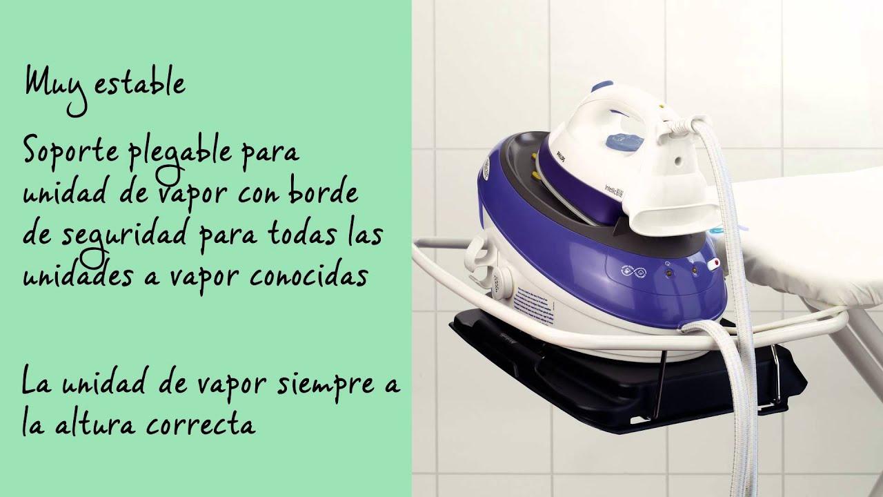 Mesa de planchar c 124x45cm con soporte plegable para for Mesa planchar plegable