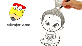 Cómo dibujar a Staci (El bebé jefazo - Un jefe en pañales) | How to draw Staci (The Boss Baby)