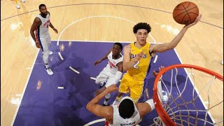 Lonzo Ball and the lakers beat the Detroit pistons