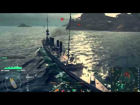 World of Warships 0.4.0 Arkansas Battleship Gameplay - Open Beta Date Talk
