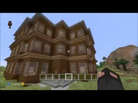 Minecraft Wayne Manor & Bat-cave