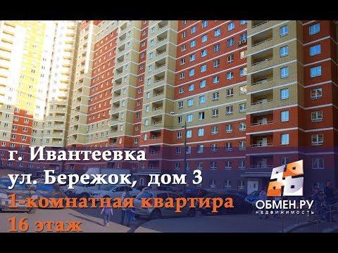 Продажа 1-комнатной квартиры: г.Ивантеевка, ул.Бережок, дом 3. Лот 446531.