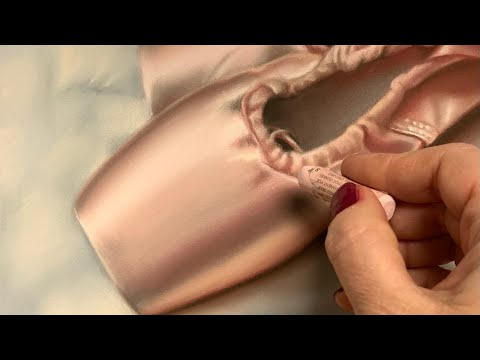 Pink Satin Ballet Shoes in Soft Pastel & Pencils (Speed Painting Demo)