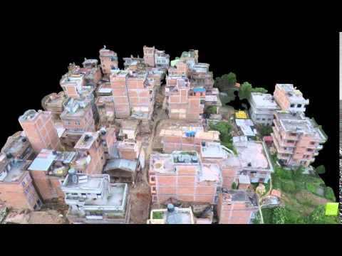 3D Model of Nepal Disaster Damage (Oblique)