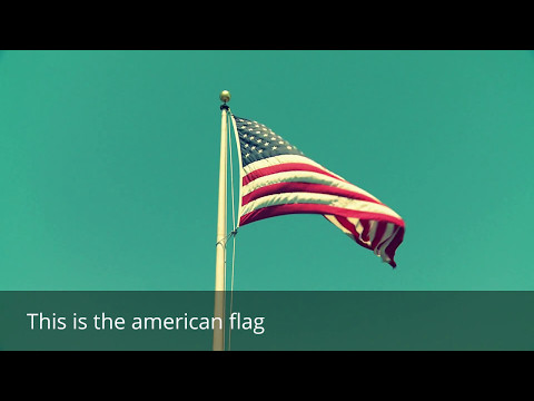 American flag - Learn arabic
