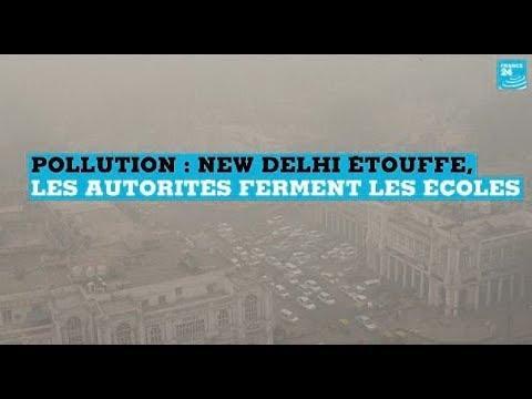 Pollution en Inde : New Delhi étouffe, les autorités ferment les écoles