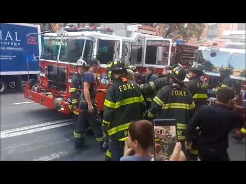 Man tries to steal FDNY Fire truck after causing major accident.