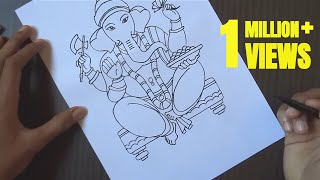how to draw lord Ganesh | drawing Ganesh ji | sankashti chaturthi | drawing easy